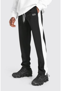 Black Regular Original Man Tricot Joggers