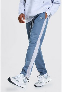 Blue Regular Original Man Tricot Joggers