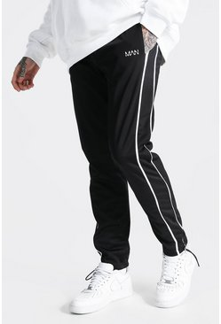 Black Regular Original Man Tricot Joggers With Pipi