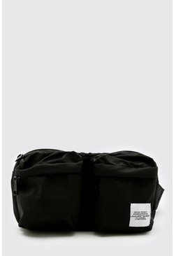 Black Man Tab Nylon Utility Crossbody