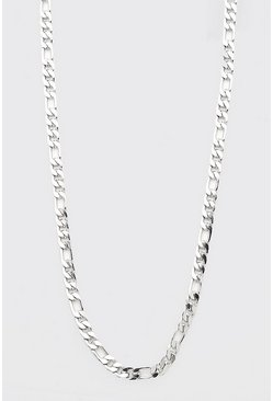 Silver Chunky Figaro Chain Necklace