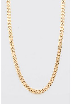 Gold Chunky Chain Necklace With Toggle And Coin