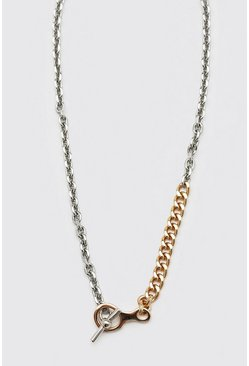 Multi Contrast Two Tone Chain With Toggle Detail