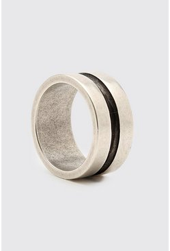 Silver Concave Detail Ring