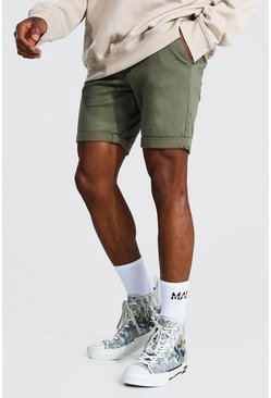 Khaki Super Skinny Chino Short