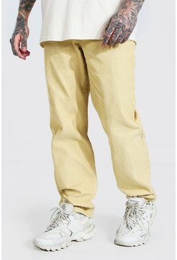Ecru Relaxed Fit Corduroy Pants