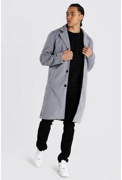 Grey Tall Summer Wool Overcoat