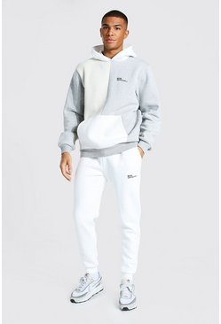 Stone  Official Man Colour Block Hooded Tracksuit