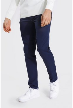 Tall - Pantalon slim chino, Navy