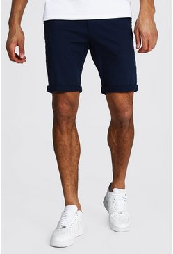 Navy Tall Skinny Fit Chino Shorts