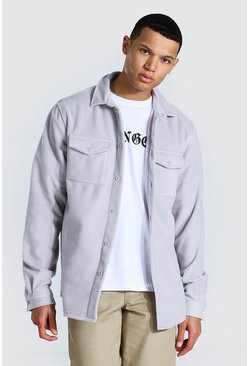 Light grey Tall Man Official Fleece Overshirt