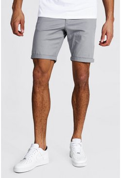 Grey Tall Skinny Fit Chino Shorts