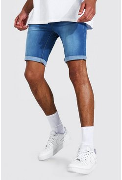 Light blue Tall Skinny Fit Denim Shorts