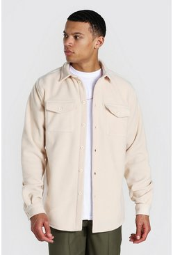 Ecru Tall Man Official Fleece Overshirt