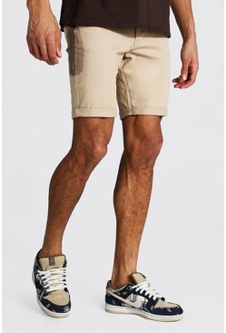 Tall Skinny Fit Chino Shorts, Stone
