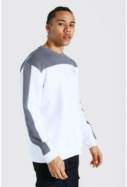Slate Tall Official Colour Block Varsity Sweater