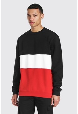 Black Tall Colour Block Sweater