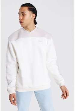 Ecru Tall Official Colour Block Varisty Sweater