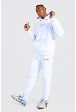 White Man Official Contrast Stitch Hooded Tracksuit