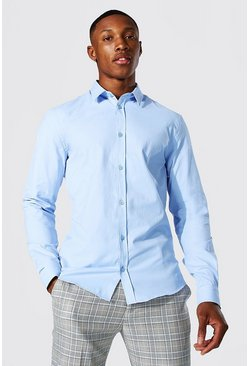 Pale blue Slim Fit Long Sleeve Shirt