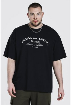 Black Plus Size Limited Edition Printed T-shirt