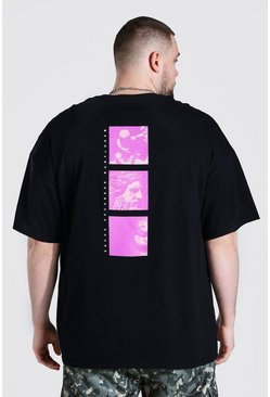 Black Plus Size Renaissance Back Print T-shirt