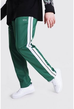 Green Plus Size Loose Fit Man Tricot Jogger