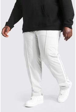 Light grey Plus Size Man Tricot Jogger
