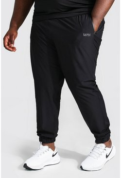Black Plus Size Man Active Tapered Jogger