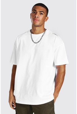 White Oversized Man Signature Heavyweight T-shirt