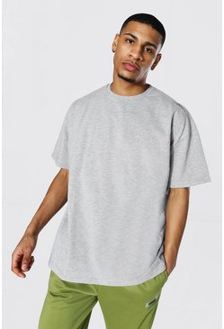 Grey marl Oversized Man Signature Heavyweight T-shirt