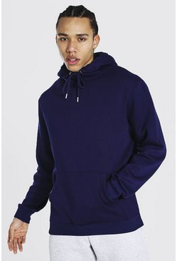 Navy Tall Basic Regular Fit Hoodie