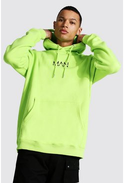 Acid lime Tall Man Oversized Hoodie
