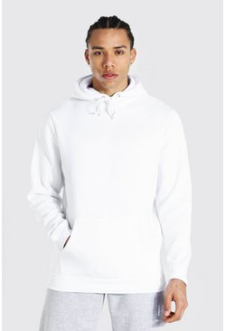 White Tall Basic Regular Fit Hoodie