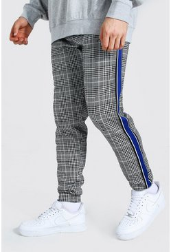 Blue Slim Man Signature Tape Jacquard Joggers