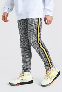Yellow Slim Man Signature Tape Jacquard Joggers