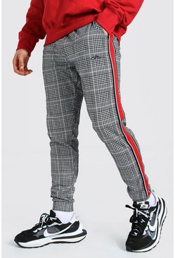 Red Slim Man Signature Tape Jacquard Joggers