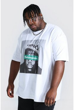 White Plus Size Notorious License T-shirt