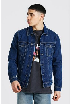Mid blue Regular Fit Denim Jacket