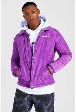 Purple Man Official Nylon Coach Jacket