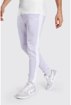 Tall - Jogging skinny à empiècement - MAN, Lilac