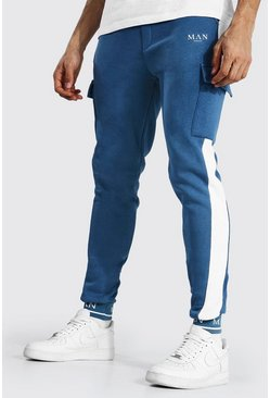 Tall - Jogging cargo skinny - MAN, Blue