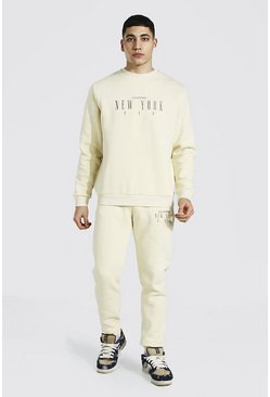 Sand New York Embroidered Sweater Tracksuit