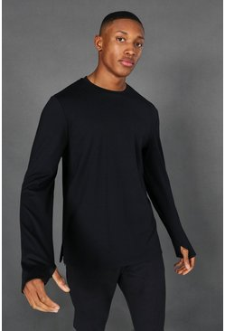 Black Man Active Yoga Long Sleeve Top