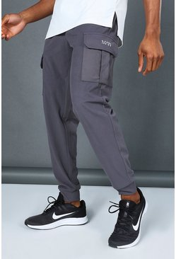 Charcoal Man Active Yoga Cargo Jogger