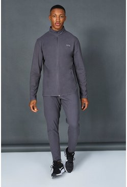 Charcoal Man Active Premium Zip Through Tracksuit