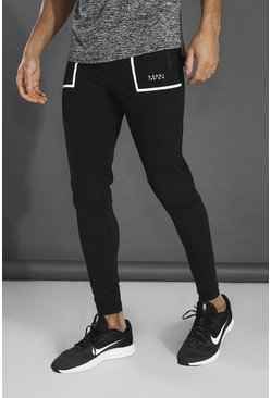 Black Man Active Technical Textured Track Pant