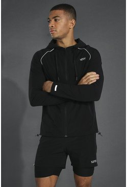 Black Man Active Lightweight Zip Through Jacket