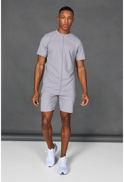 Taupe Man Active Short Tracksuit