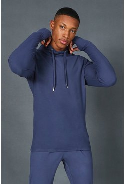 Sweat à capuche premium - MAN, Dusty blue